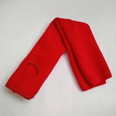 Гетры женские  красные для танцев гольфы  вязаные в  рубчик, фото 2