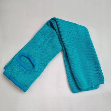 Гетры женские  для танцев гольфы  вязаные в  рубчик голубые, фото 2