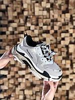 Кросівки жіночі Balenciaga Triple S Vanille (Бежевий). Стильні жіночі кросівки, фото 1