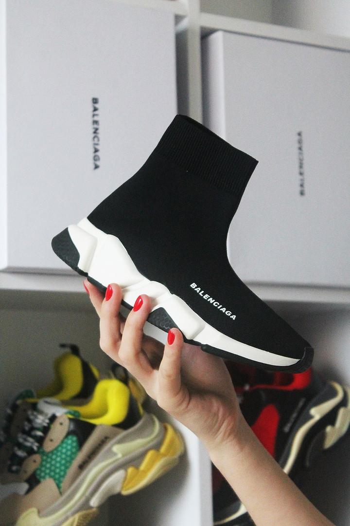 Кросівки чоловічі Balenciaga Speed Black (Чорний). Стильні чоловічі кросівки