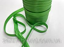 Атласная бейка зеленого цвета