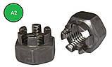 Гайка корончатая М10 ГОСТ 5918-70, DIN 935 из нержавеющей стали А2 и А4, фото 2
