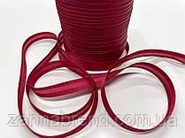 Атласная бейка бордового цвета