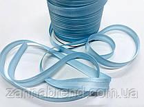Атласная бейка голубого цвета