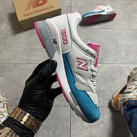 Кроссовки женские New Balance 1500 White Pink (Белый Голубой). Стильные женские кроссовки.