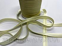 Атласная бейка светло-желтого цвета