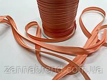 Атласная бейка ярко-оранжевого цвета