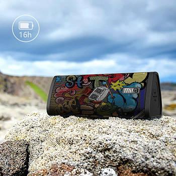 Колонка Mifa A10 Graffiti Black 10W портативный динамик 10 Вт + поддержка AUX / MicroSD / Bluetooth