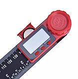 Электронный цифровой угломер 200 мм с линейкой, фото 6