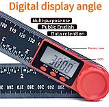 Электронный цифровой угломер 200 мм с линейкой, фото 2