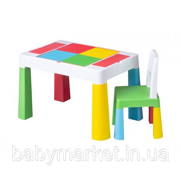 Комплект Tega MULTIFUN стол+1 стул MF-001 multicolor