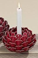 Подсвечник Роза керамика d14см Гранд Презент 3102800