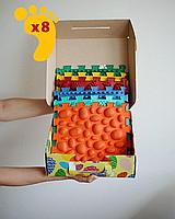 Коврик массажный детский- 8 элементов ортопедический для ног Пазлы Микс. Развивающий ортопедический коврик.