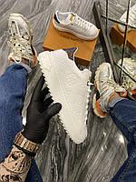 Кроссовки женские Louis Vuitton Sneakers. (Белый). Стильные женские кроссовки.