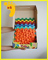 Коврик массажный детский- 6 элементов ортопедический для ног Пазлы Микс. Развивающий ортопедический коврик.