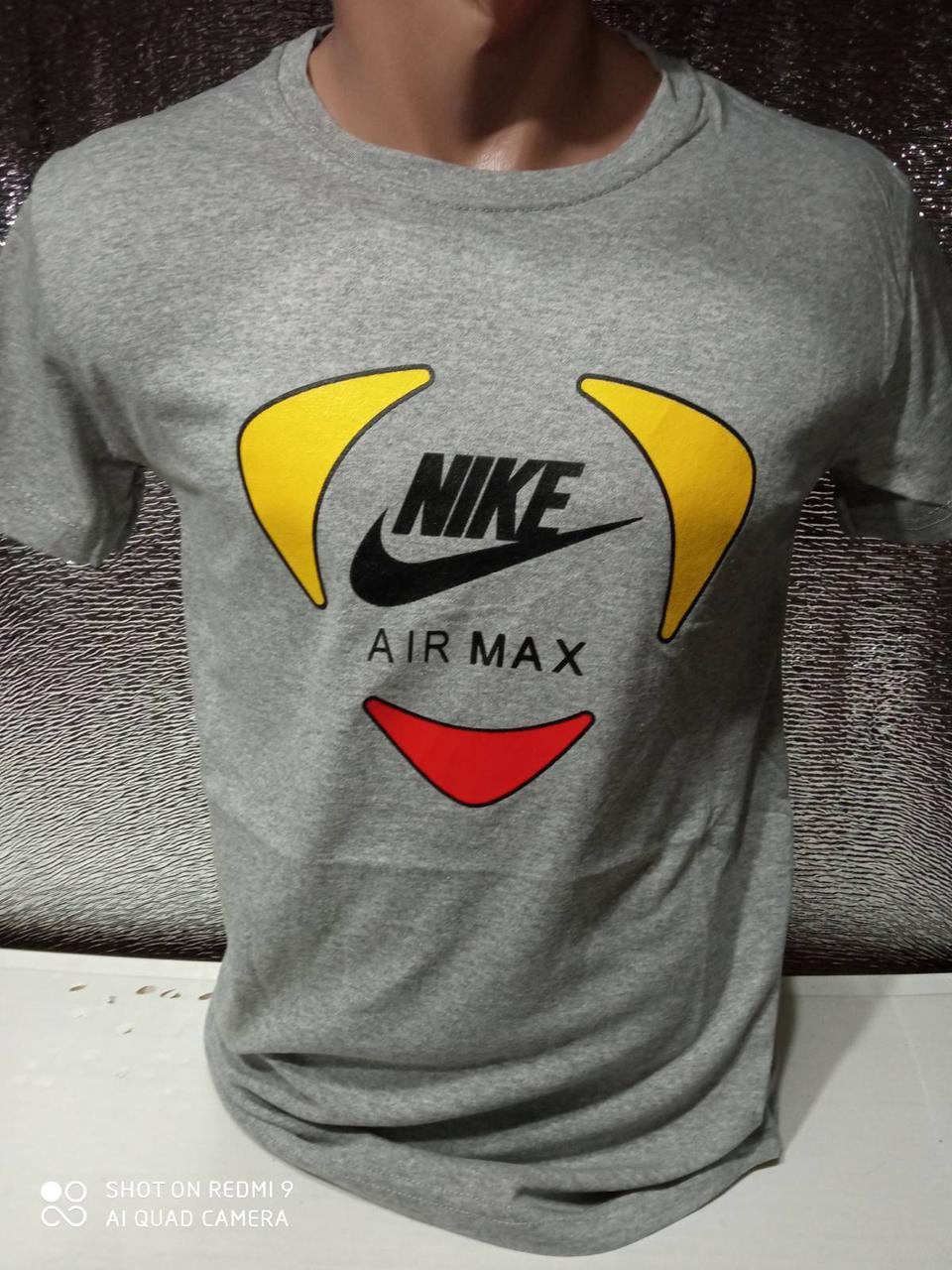 Мужские футболки новинки с надписями оптом Серый