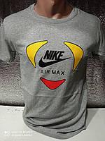 Мужские футболки новинки с надписями оптом Серый, фото 1
