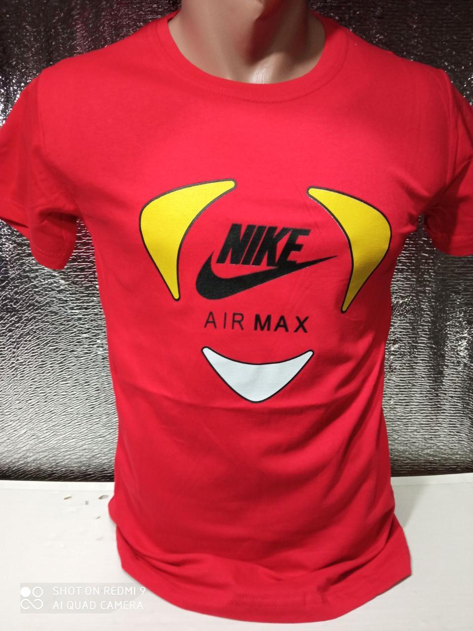 Чоловічі футболки новинки з написами оптом Червоний