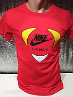 Чоловічі футболки новинки з написами оптом Червоний, фото 1