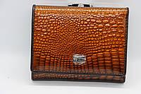 Жіночий шкіряний гаманець Wanlima 62041170015b1 Coffee, фото 1