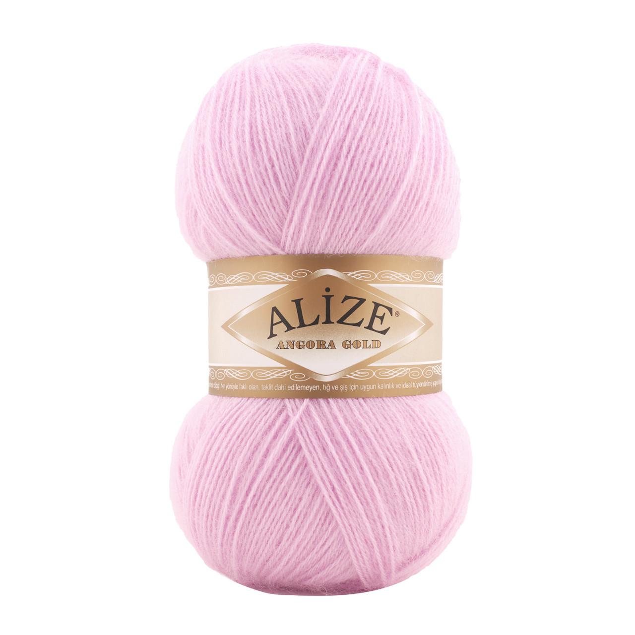 ANGORA GOLD 185 светло-розовый - 20% шерсть 80% акрил