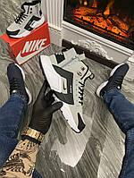 Кросівки чоловічі Nike Air Huarache MID Gray/Black (Термо) (Сірий). Стильні чоловічі кросівки, фото 1