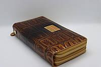 Жіночий шкіряний гаманець-клатч Wanlima 82022340001 Coffee