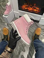 Кросівки жіночі Timberland Pink White (Термо) (Рожевий). Стильні жіночі кросівки, фото 1