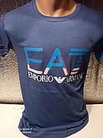 Популярные мужские футболки оптом Синий, фото 1