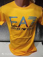 Популярні чоловічі футболки оптом Жовтий, фото 1