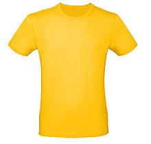 Футболка мужская желтая, размеры S,M,L,XL, XXL
