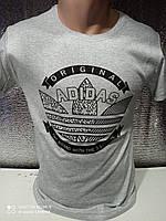 Мужские футболки с принтами оптом Серый
