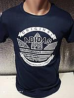 Чоловічі футболки з принтами оптом Синій