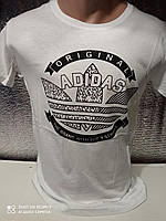 Чоловічі футболки з принтами оптом Білий, фото 1