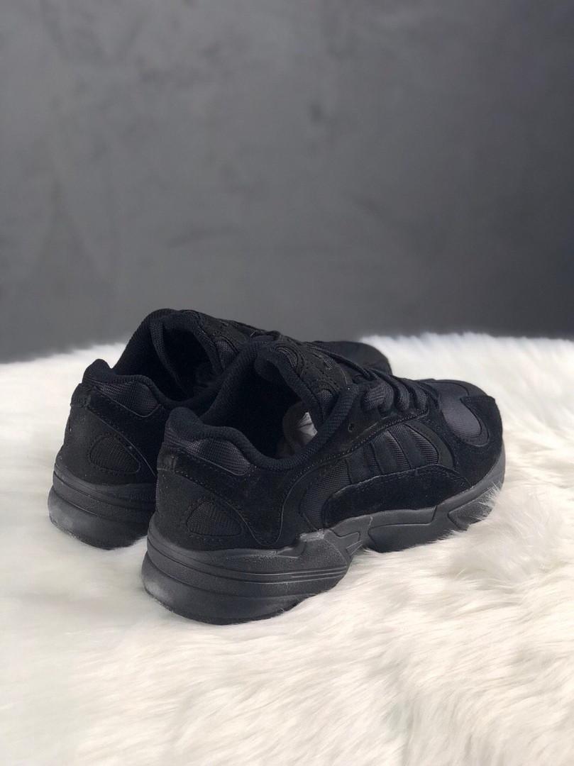Кроссовки женские Adidas Yung 1 Full Black (Черный). Стильные женские кроссовки Адидас.