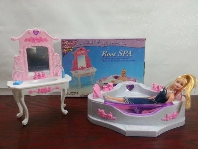 Меблі для ляльок кукол типу Барбі Gloria ванна кімната в коробці 2613