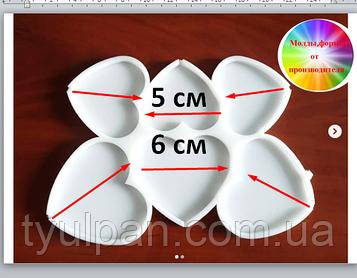 2D Форма силиконовая молд  сердце сердечки молд для изомальта леденцов шоколада