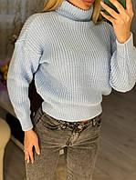 Укороченный свитер с горлом