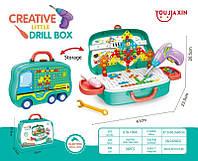 """Детский игровой набор """"Ремонт"""" чемоданчик Creative little drill box 678-109A G"""