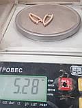 Серьги ВКИЗОВ, золото 585 проба, кубический цирконий, фото 2