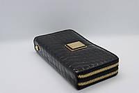 Жіночий шкіряний гаманець Wanlima 82022679998 Black/Gray
