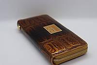 Жіночий шкіряний гаманець Wanlima 82022340003 Coffee