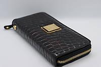 Жіночий шкіряний гаманець Wanlima 82022679997 Black/Gray