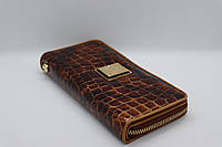 Жіночий шкіряний гаманець Wanlima 82022679997 Light Coffee