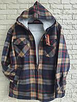 Рубашка теплая мужская на меху норма с капюшоном 54-56 в розницу, фото 1