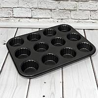 Форма для кексов и маффинов на 12 ячеек 36*26*3см