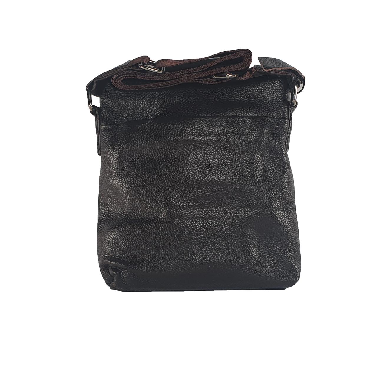 Мужская сумка из натуральной кожи без клапана, малая