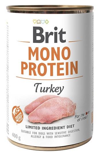 Вологий корм для собак Brit Mono Protein Turkey з індички 400 г