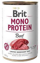 Влажный корм для собак Brit Mono Protein Beef с говядиной 400 г