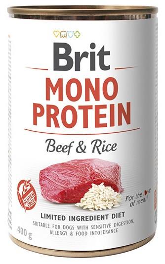 Вологий корм для собак Brit Mono Protein Beef & Rice з яловичиною і рисом 400 г